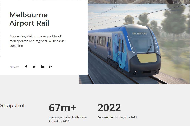 infrastructure developments in Melbourne